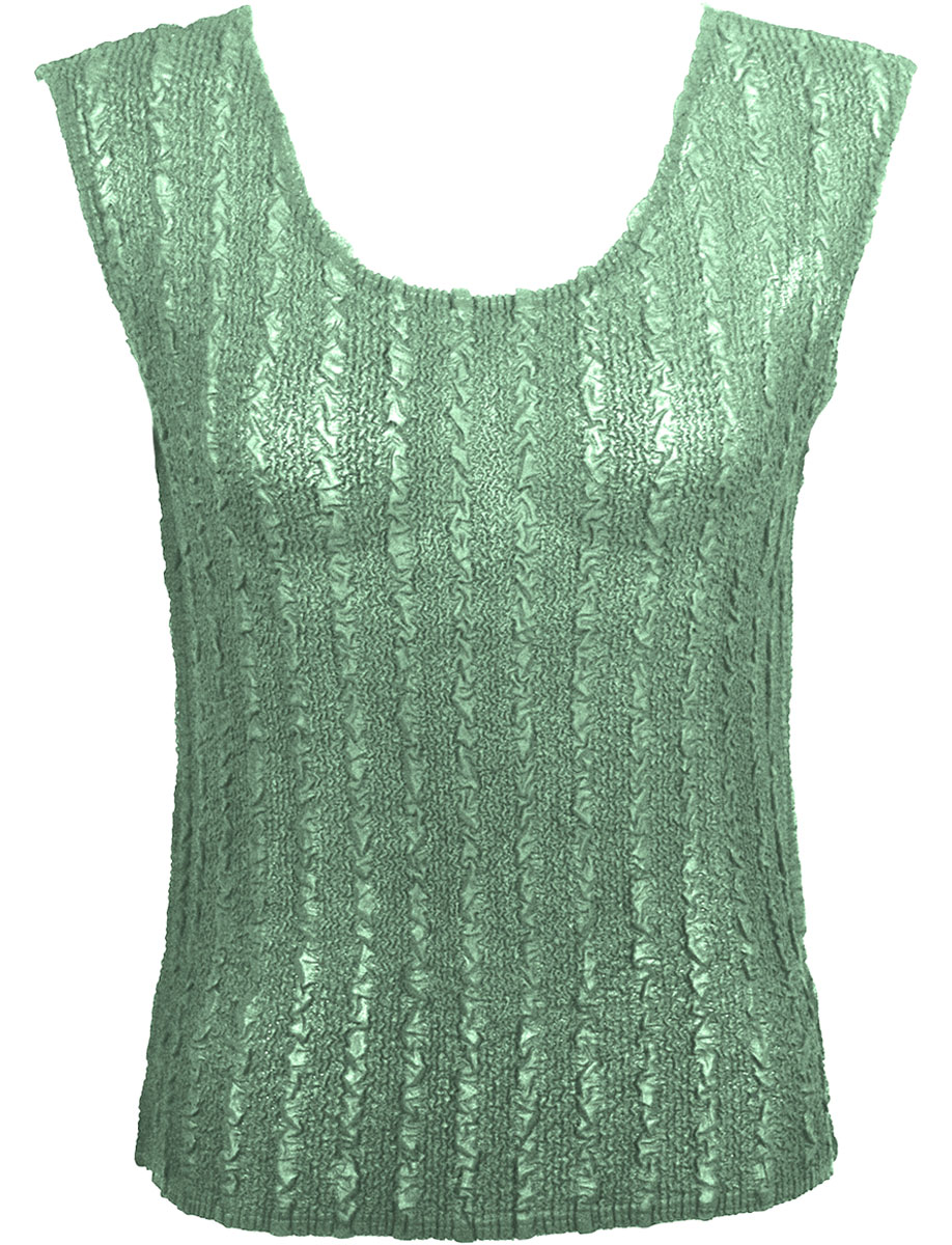 Magic Crush Georgette - Sleeveless* - Solid Light Moss