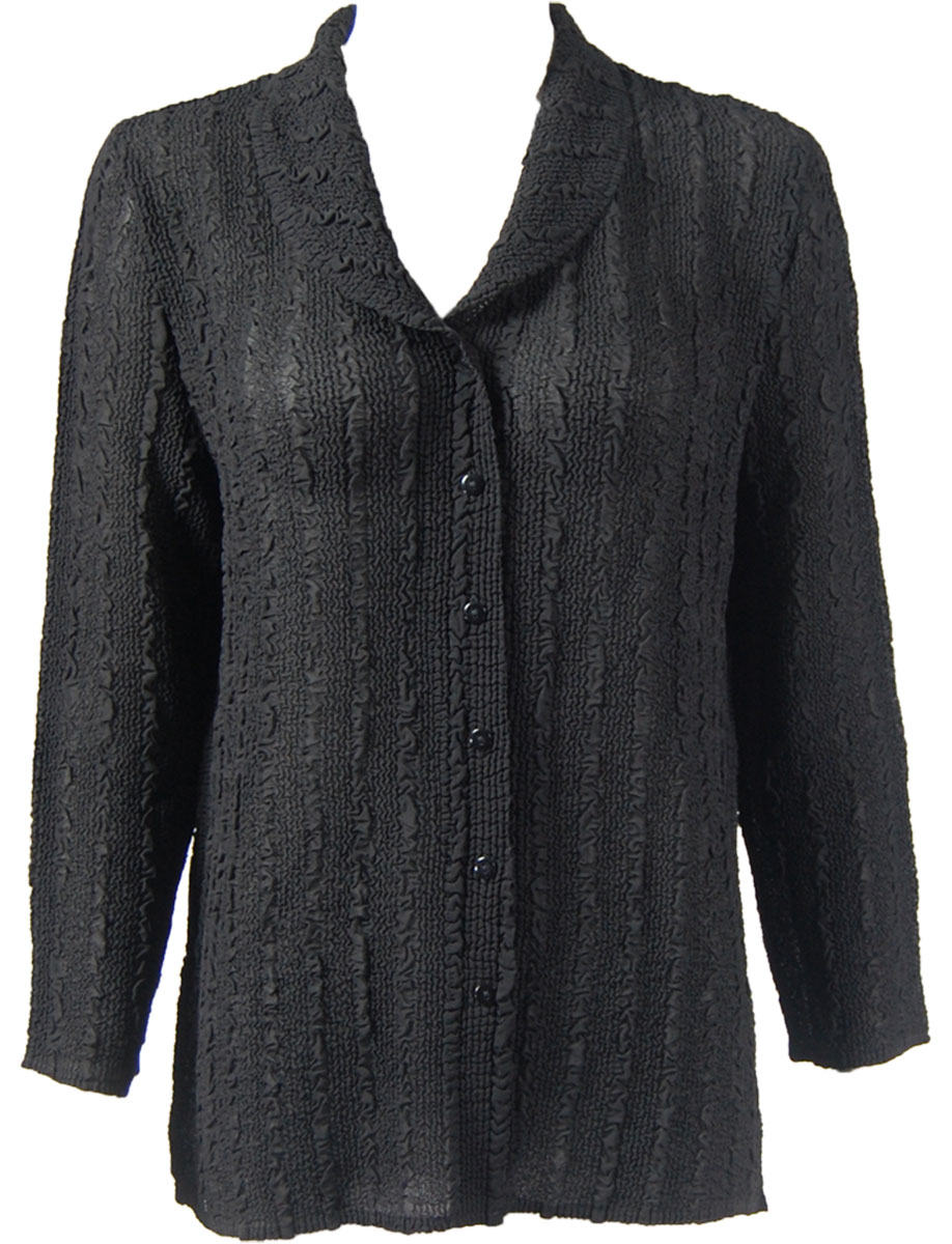 Magic Crush Georgette - Blouse* - Solid Black