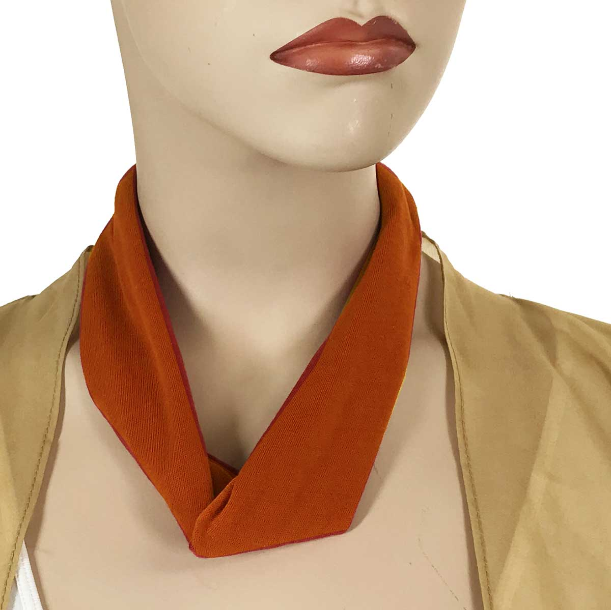 Jersey Knit Necklace with Magnetic Clasp - #036 Paprika