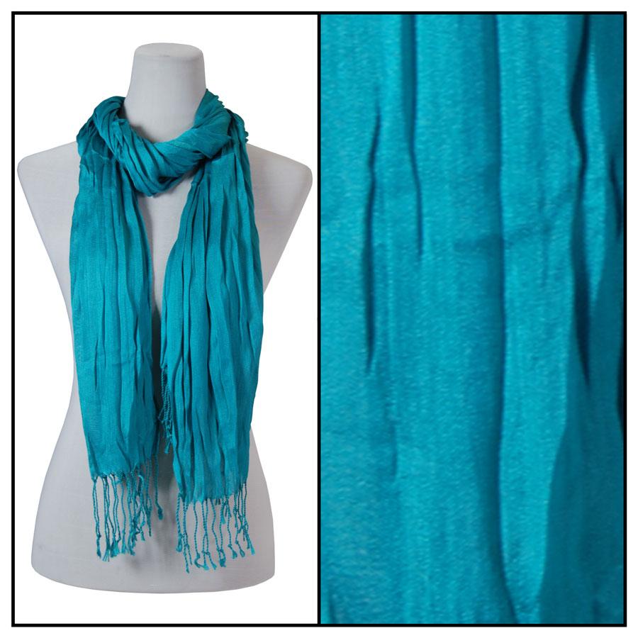 Oblong Scarves - Cotton/Silk Blend 100 - Teal