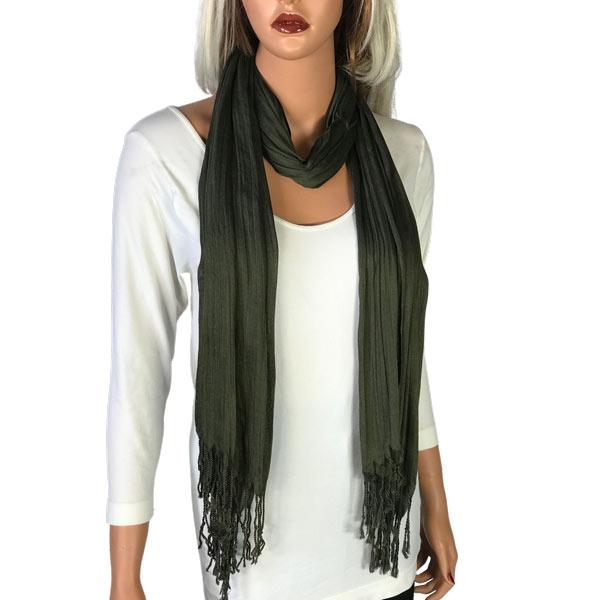 Oblong Scarves - Cotton/Silk Blend 100 - Chive