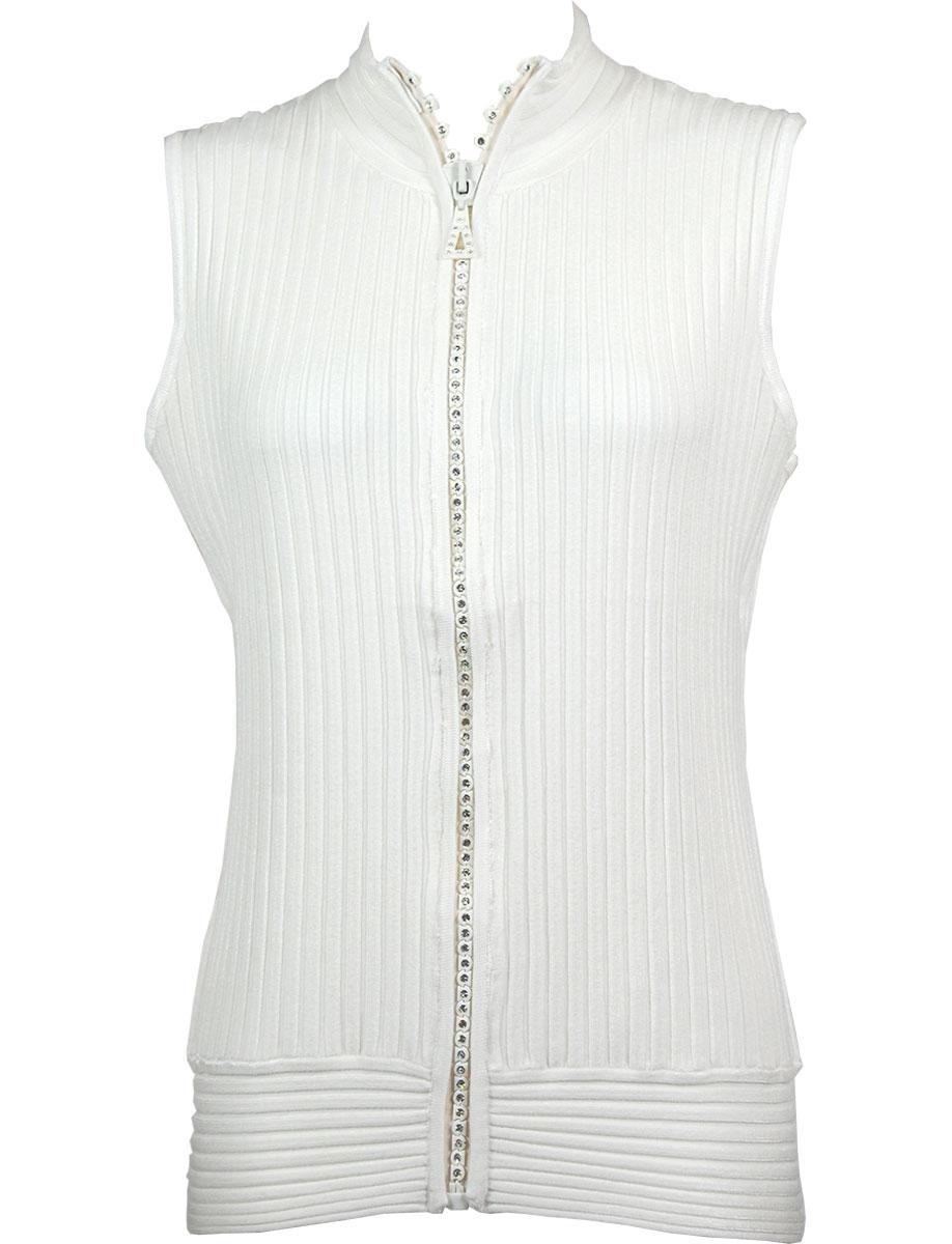 Crystal Zipper Sweater Vest*1595