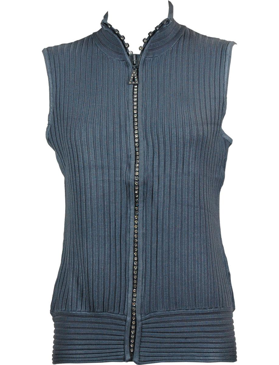 Crystal Zipper Sweater Vest*