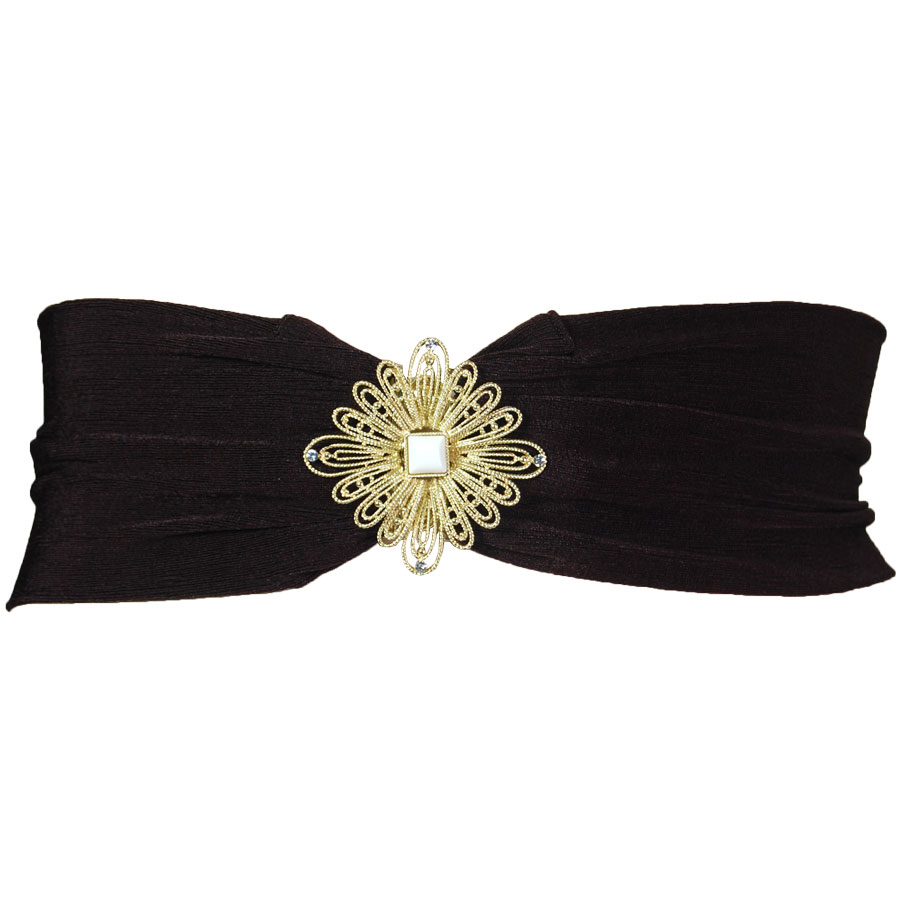 Slinky Stretch Belts* - Daisy Design - Dark Brown Slinky Stretch Belt