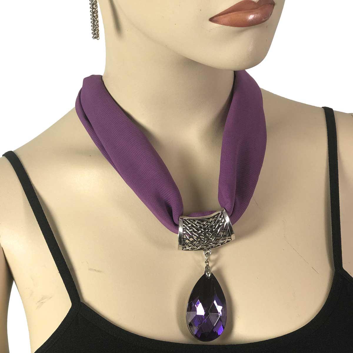 Chiffon Magnet Necklace w/ Optional Pendant