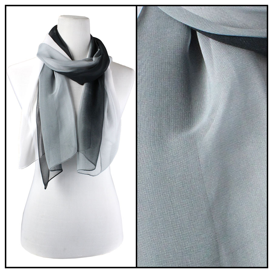Wholesale Magic Crush Georgette - Three Quarter Sleeve* Tri-Color - Black-Grey-White TC11 -