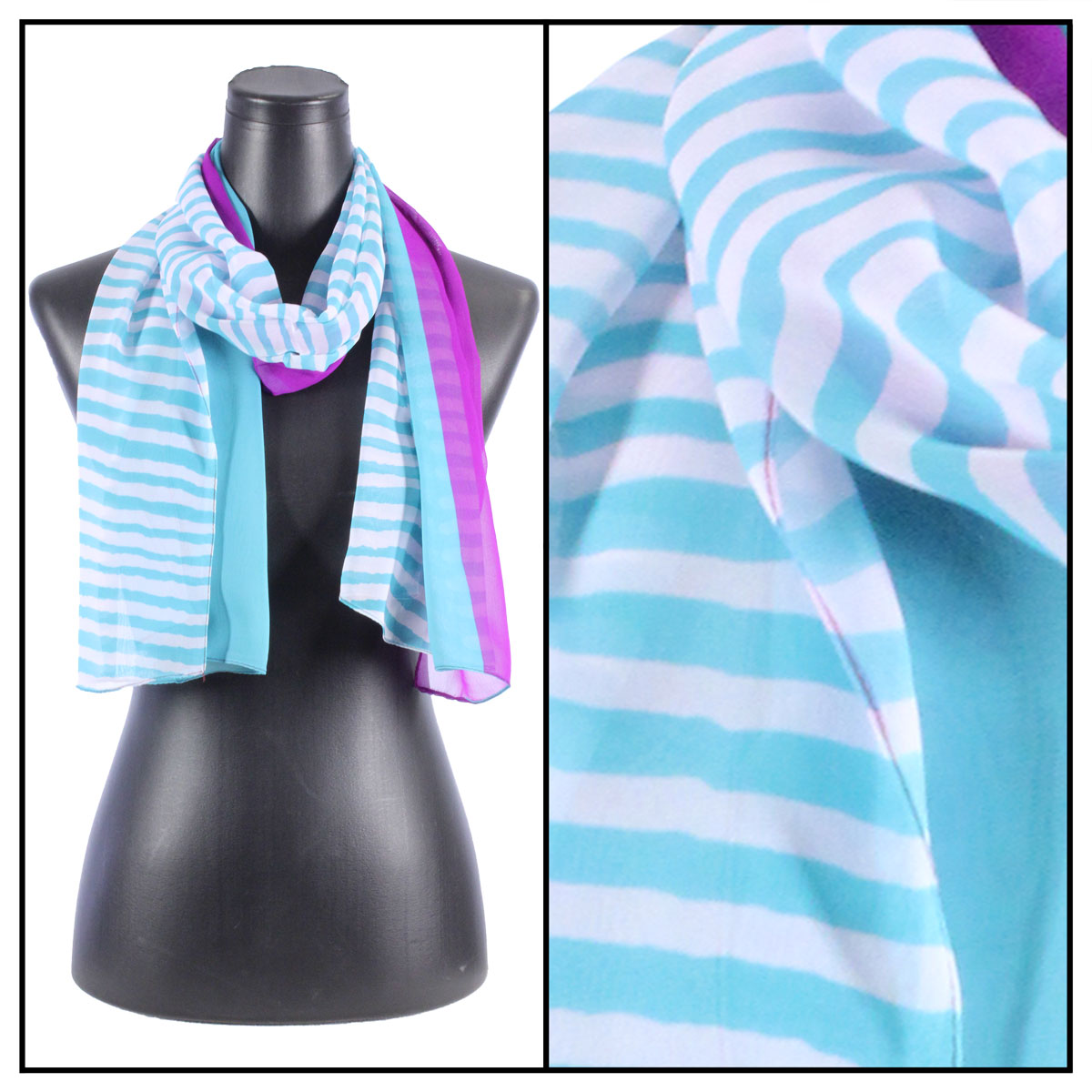 Silky Dress Scarves - N113 Teal