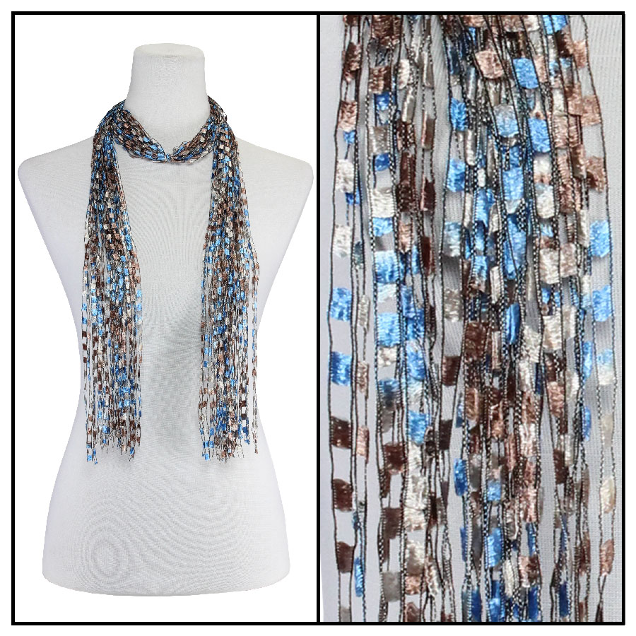 Oblong Scarves - Vermont Waterfall 002 - Western Blue