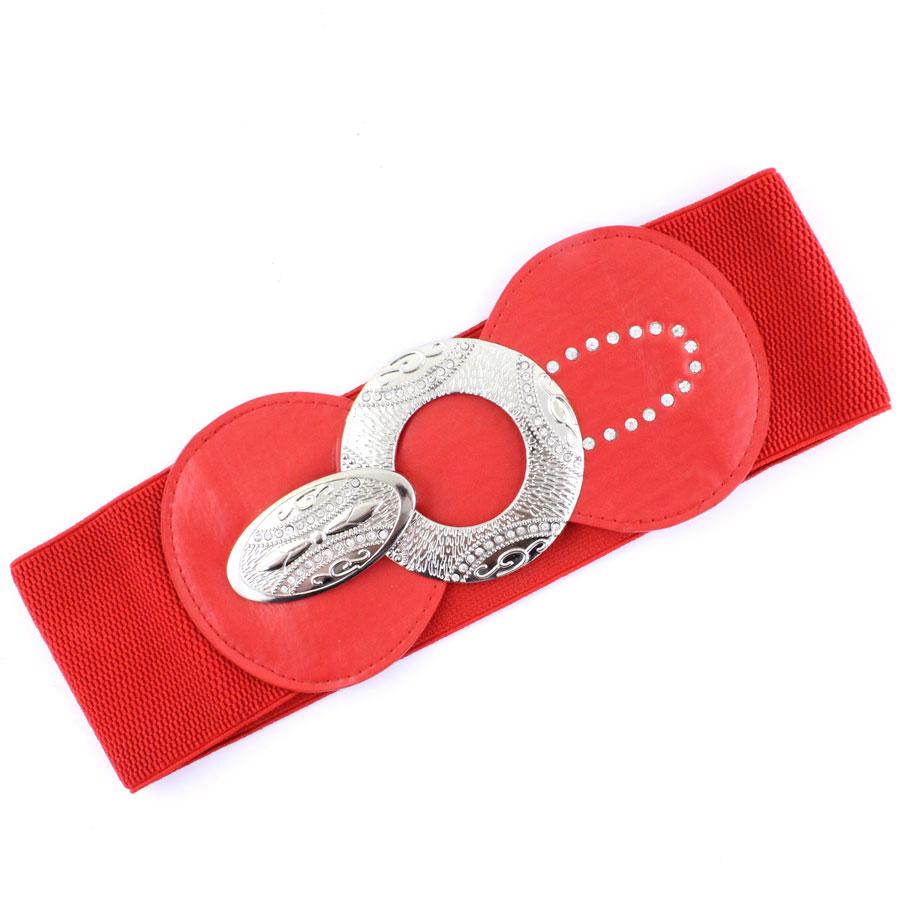 Fashion Stretch Belts - 1072 - Red