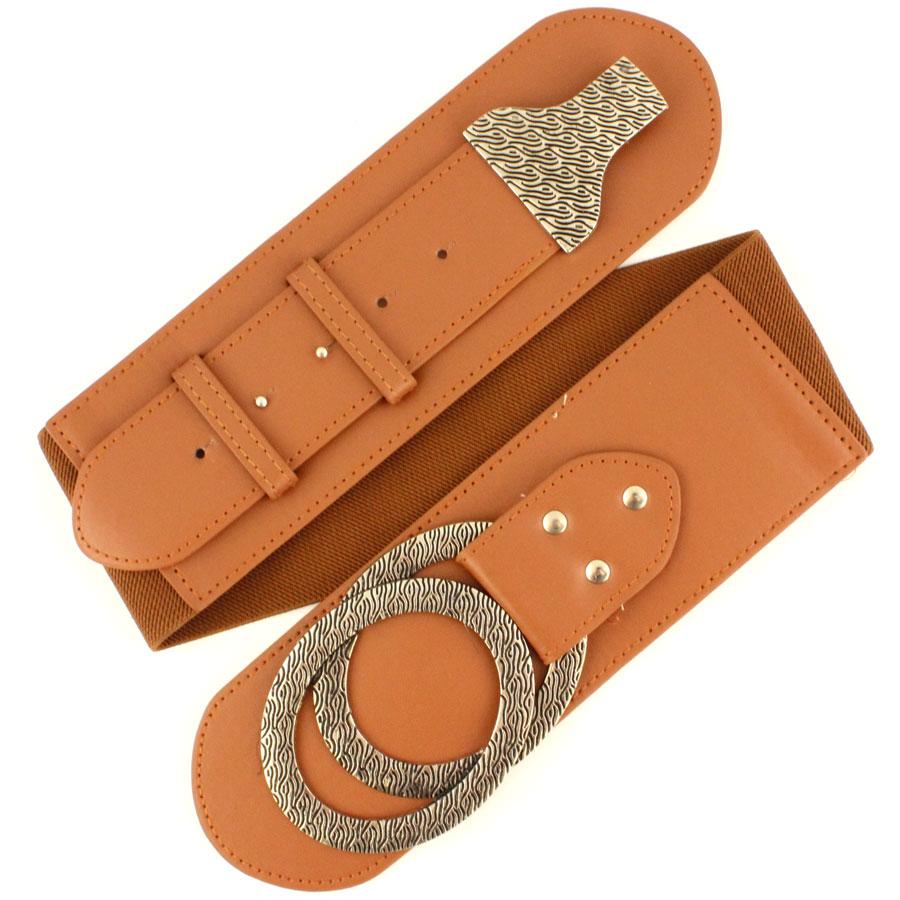 Fashion Stretch Belts - 51761 - Camel