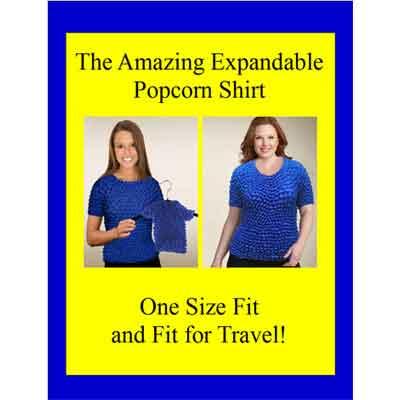 Wholesale Gourmet Popcorn - Three Quarter Sleeve Popcorn Sign 8.5