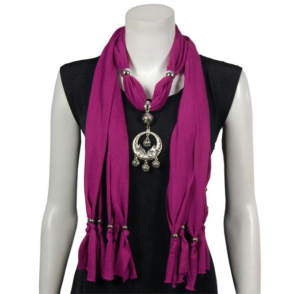 Jersey Knit Pendant Scarves