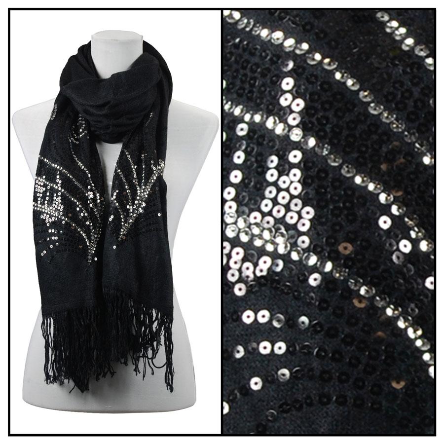 Oblong Scarves - Sequined Cashmere Feel*4109