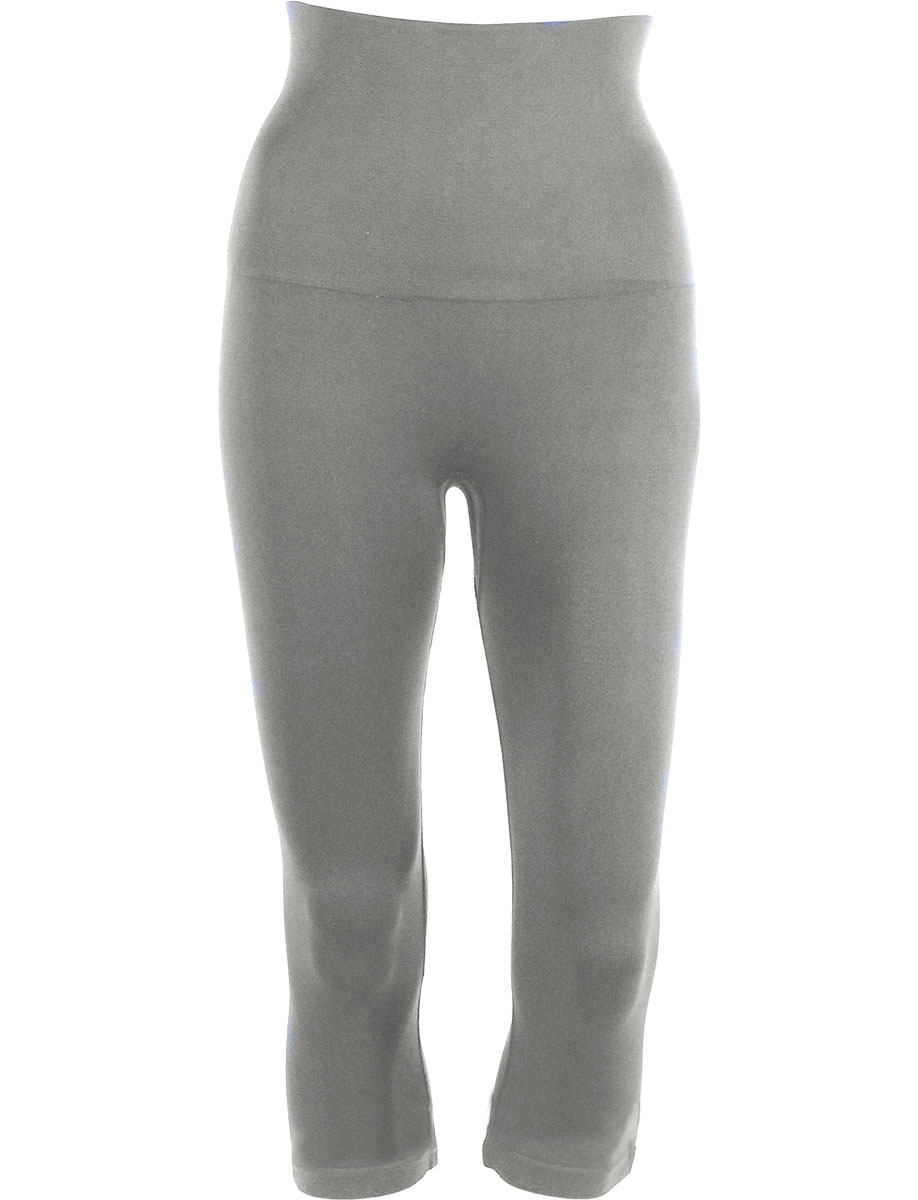 Silver Tummy Control SmoothWear Capri Leggings