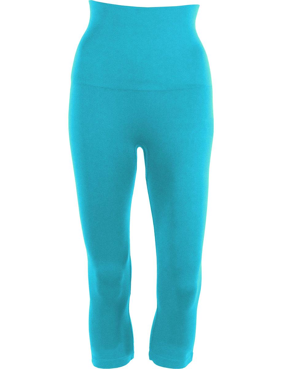 Turquoise Tummy Control SmoothWear Capri Leggings