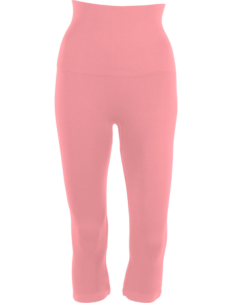 Light Pink Tummy Control SmoothWear Capri Leggings
