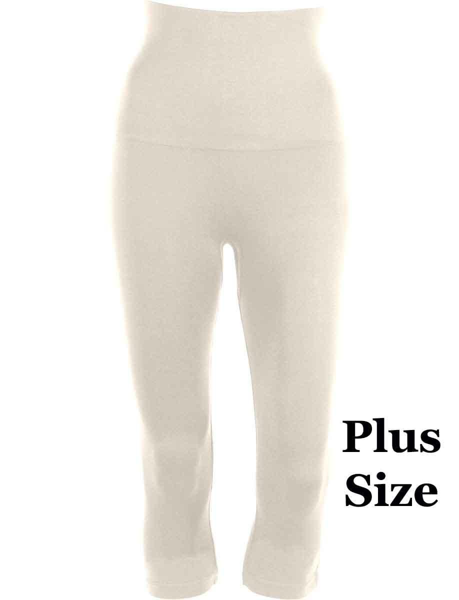 Ivory Plus Tummy Control SmoothWear Capri Leggings