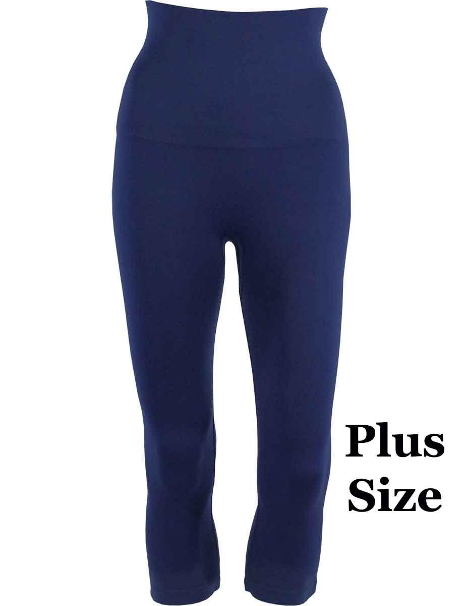 Midnight Plus Tummy Control SmoothWear Capri Leggings