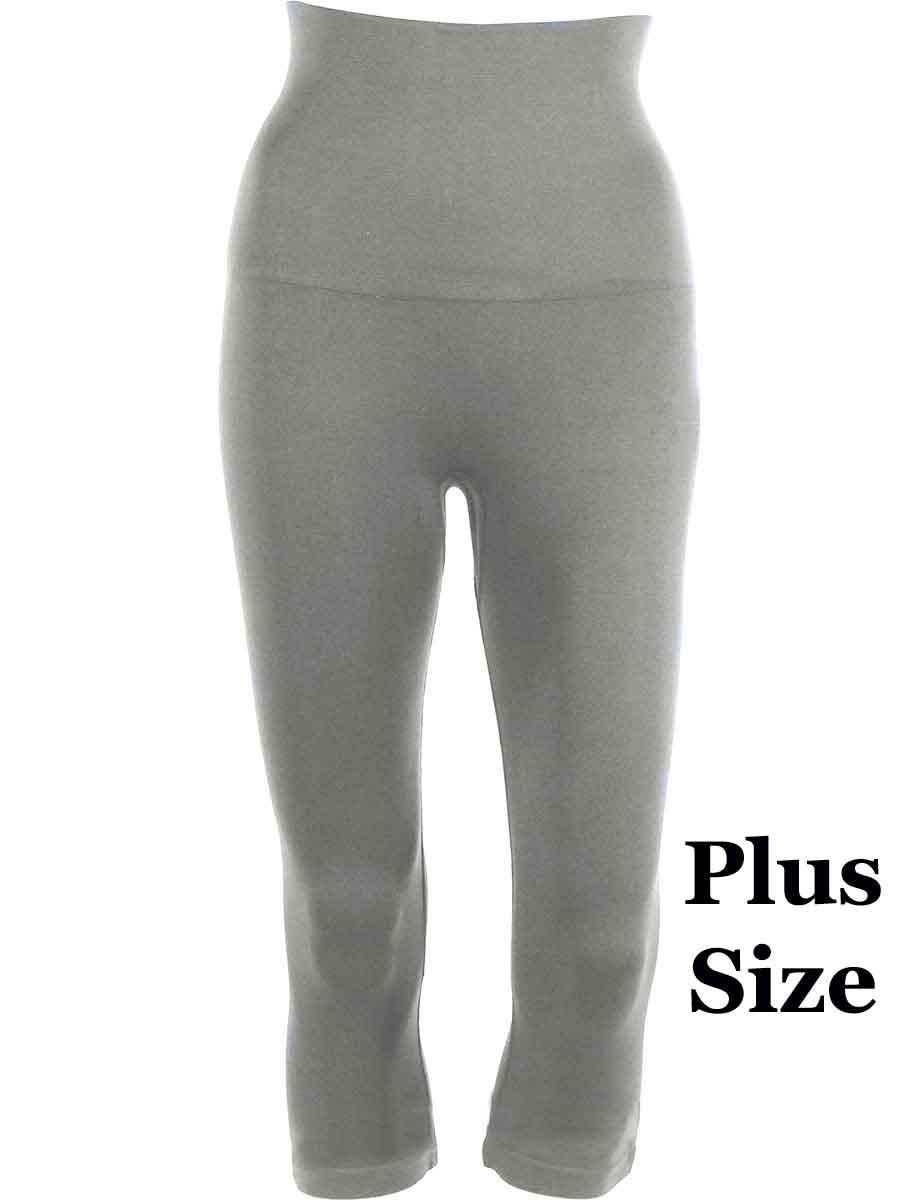 Silver Plus Tummy Control SmoothWear Capri Leggings
