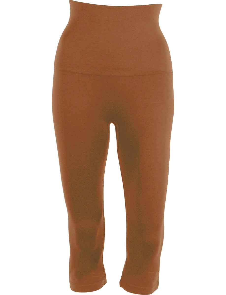 Mocha Tummy Control SmoothWear Capri Leggings