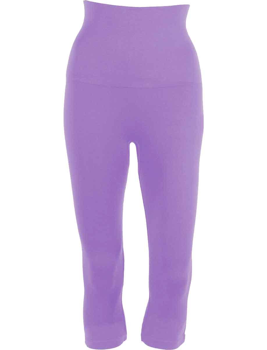 Violet Tummy Control SmoothWear Capri Leggings