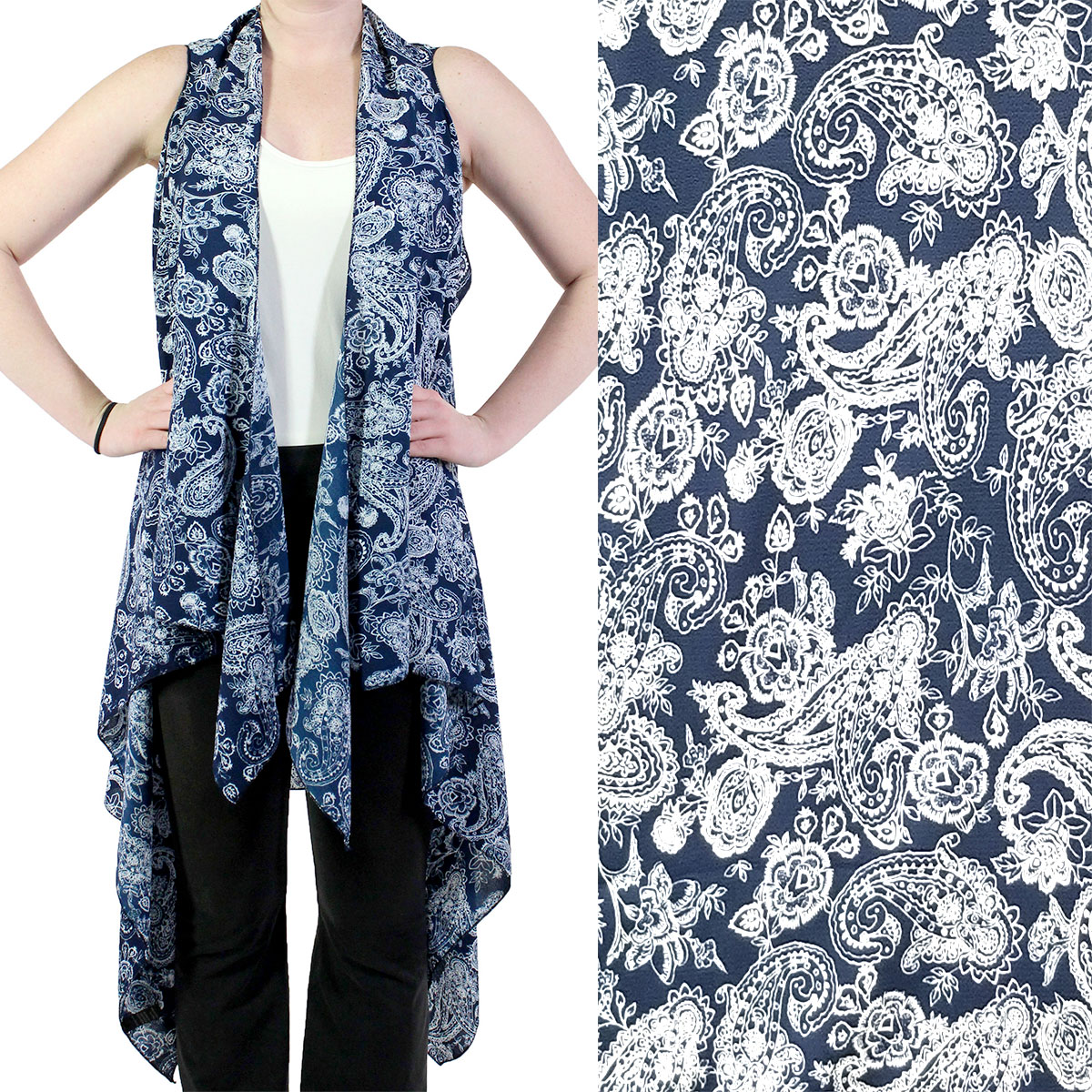 SV1272 Blue/White Paisley