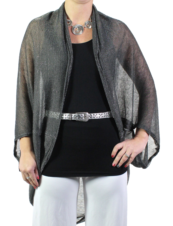 Kimono - Lurex Sheer 8749 - Black