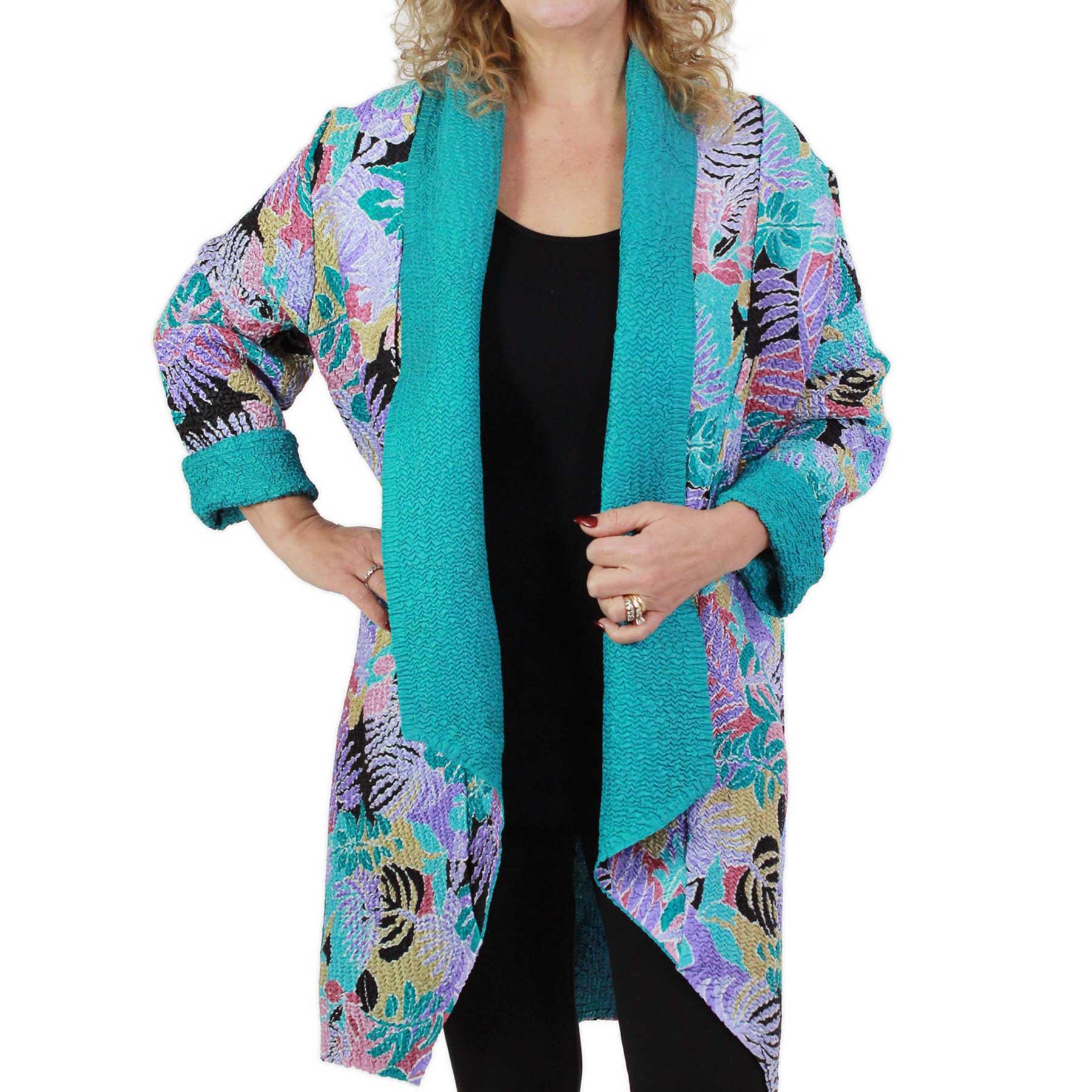 Art Crush Cardigan - Prints - Woman Size - #1061 Tropical Breeze