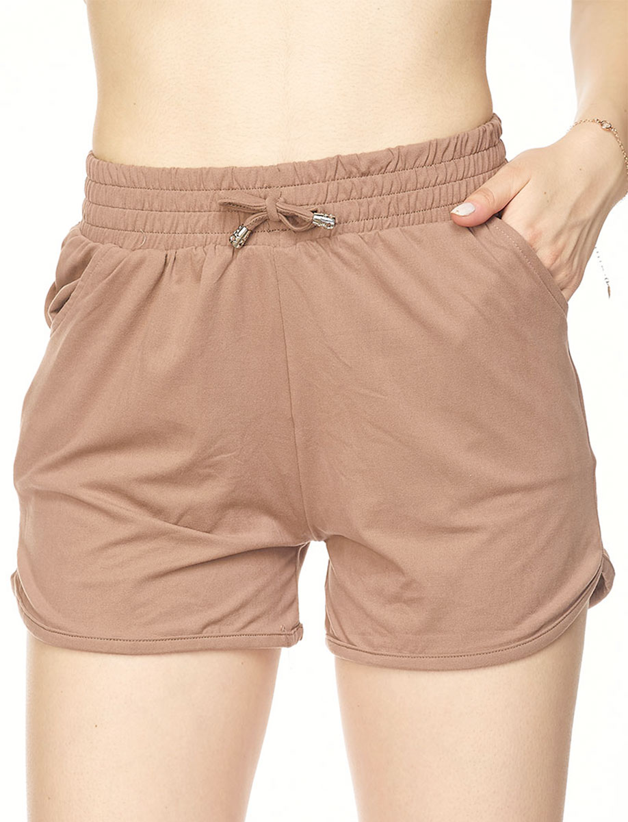 Brushed Fiber Shorts  - Solid Mocha