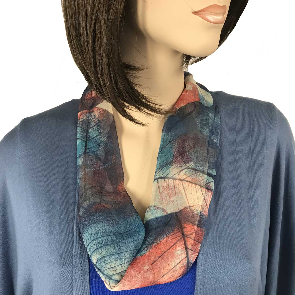 Silky Dress Scarf with Magnetic Clasp