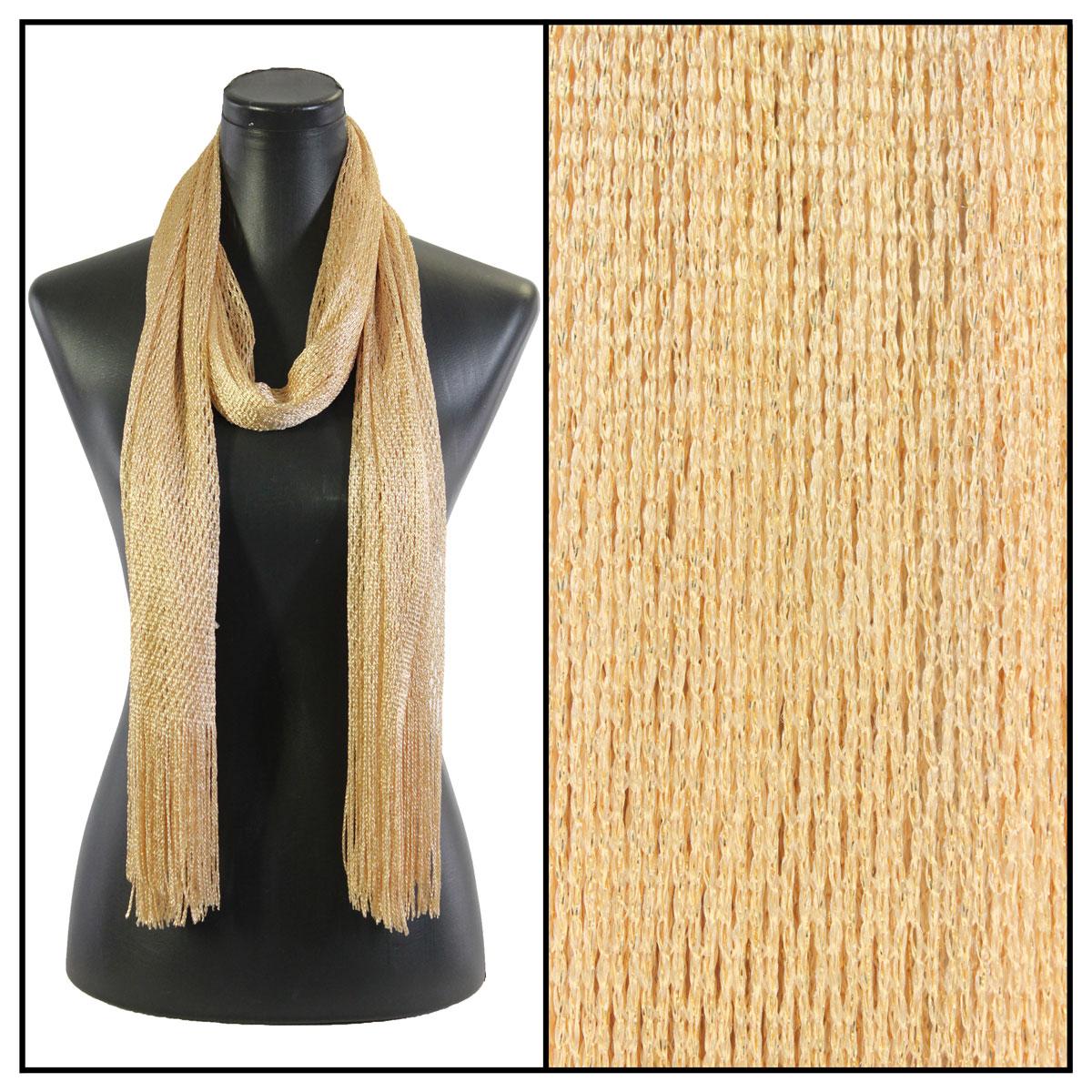 Oblong Scarves - Metallic Fishnet 74