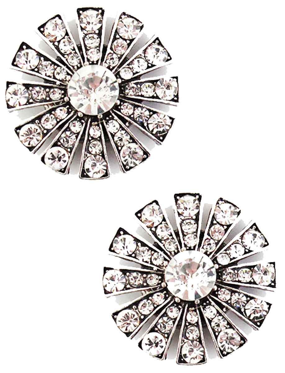 Magnetic Brooches Starburst Design - Double Sided - 408 Clear (Double Sided)