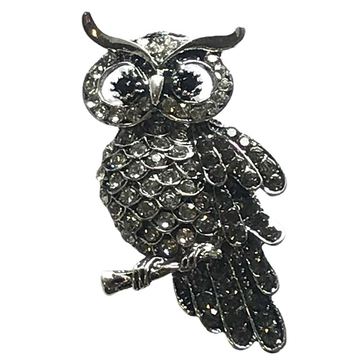 Magnetic Brooches - Artful Design - Plain Back - #008 Owl on a Branch Magnetic Brooch