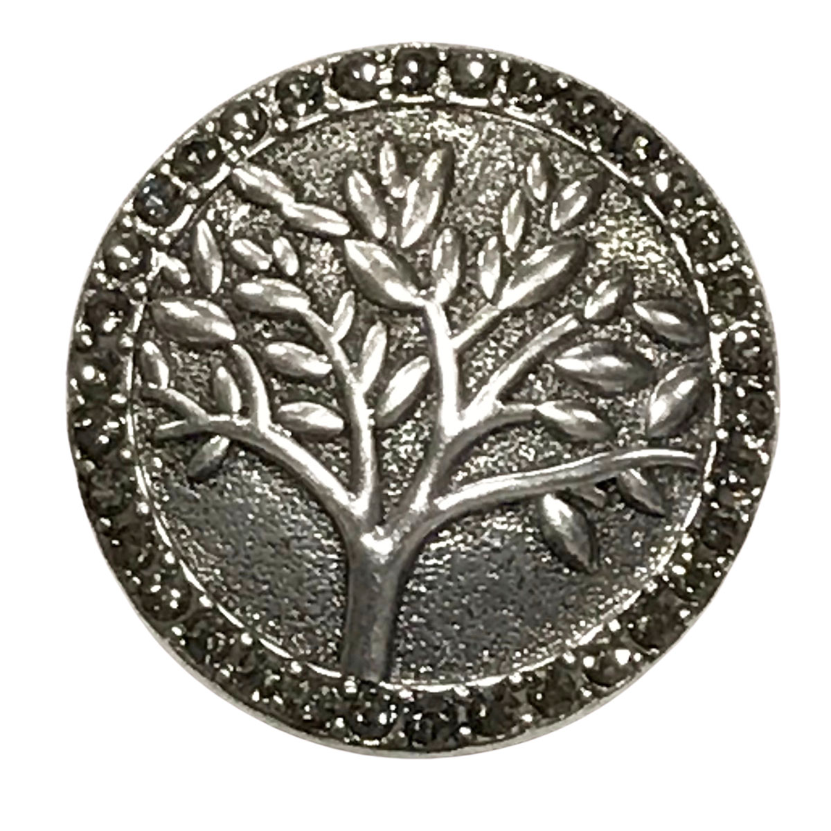 Magnetic Brooches - Artful Design - Plain Back - #593 Tree with Hematite Circle Magnetic Brooch
