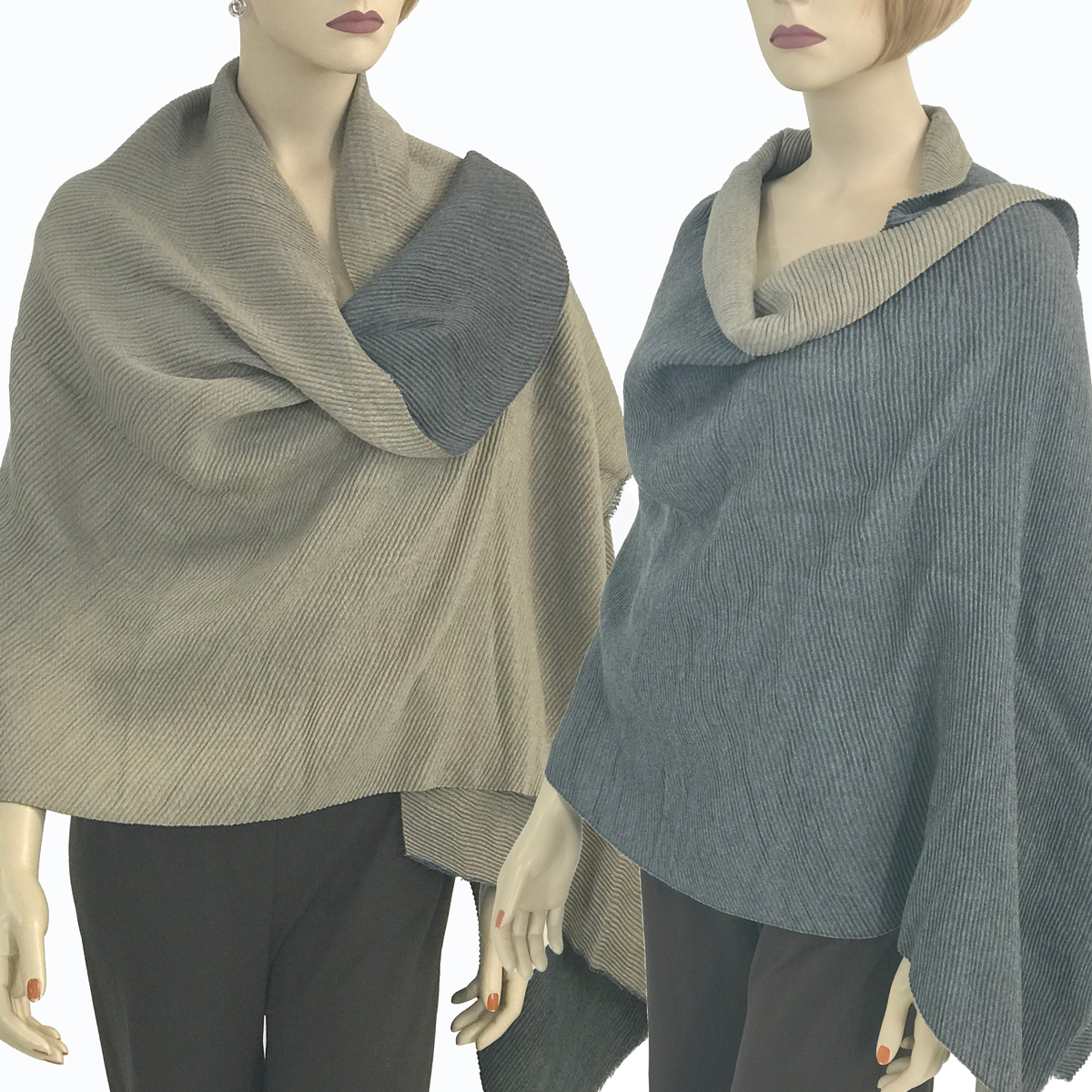 Oblong Shawls - Reversible Pleated 3072 & 3073