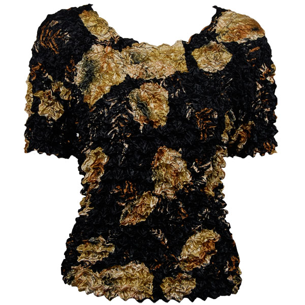 Wholesale Gourmet Popcorn - Short Sleeve Black with Gold Leaves - One Size (S-XL)