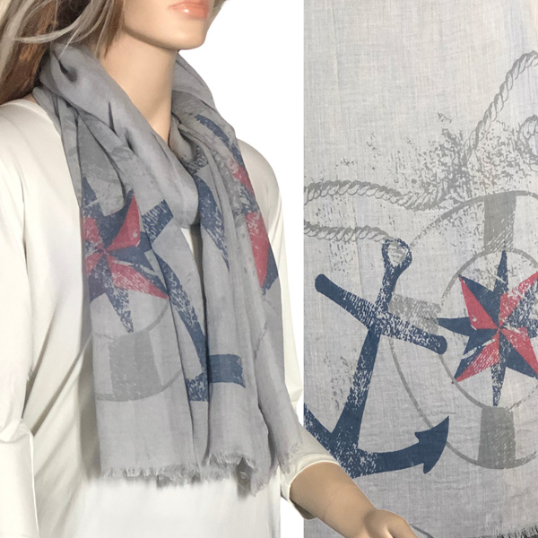 Nautical Print Scarves and Shawls