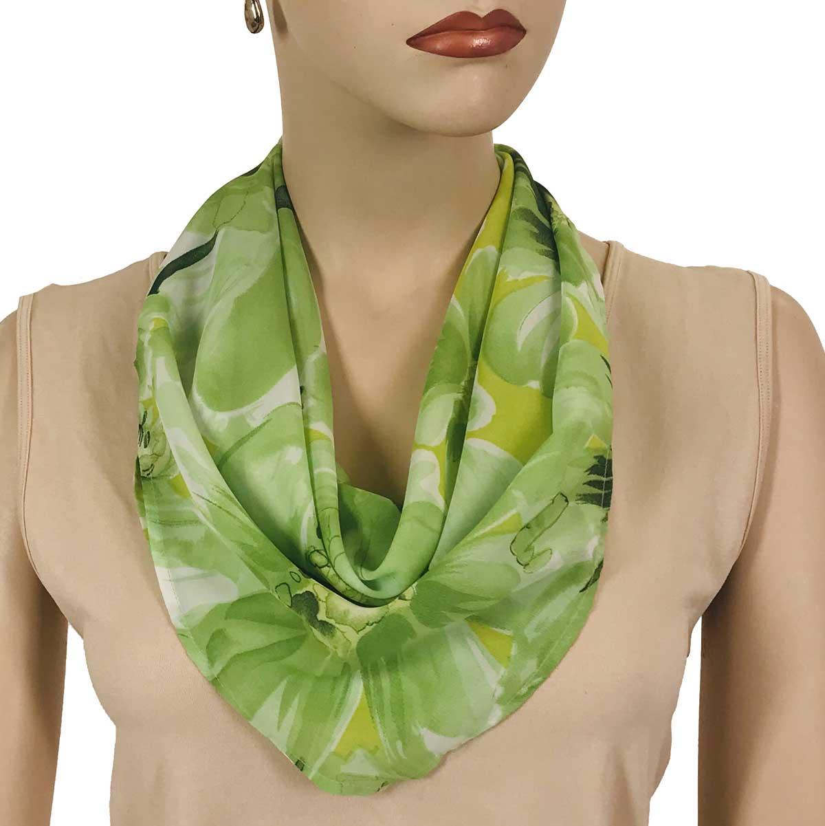 Wholesale Magic Crush Georgette - Cap Sleeve* Daisies - Green  -
