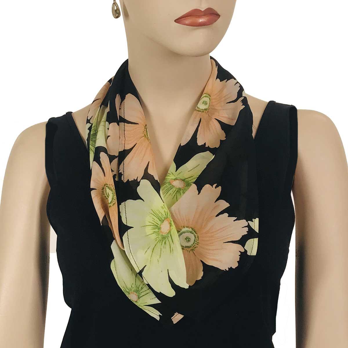 Wholesale Magic Crush Georgette - Cap Sleeve* Hibiscus Peach-Green -