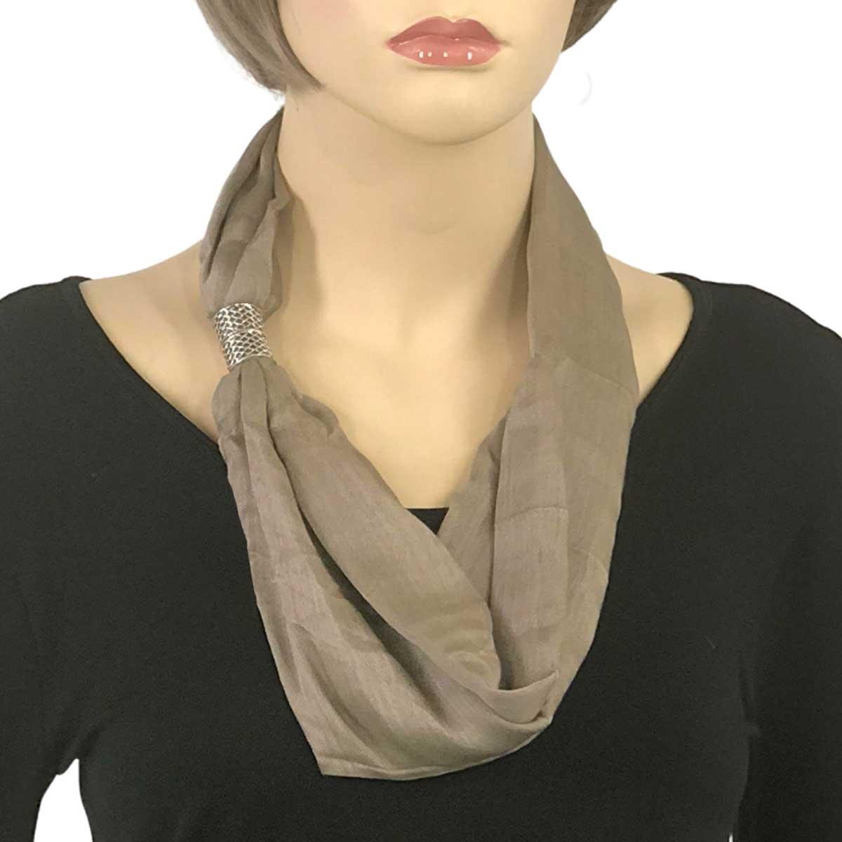Magnetic Clasp Scarves (Cotton/Silk 100) - #14 Lark