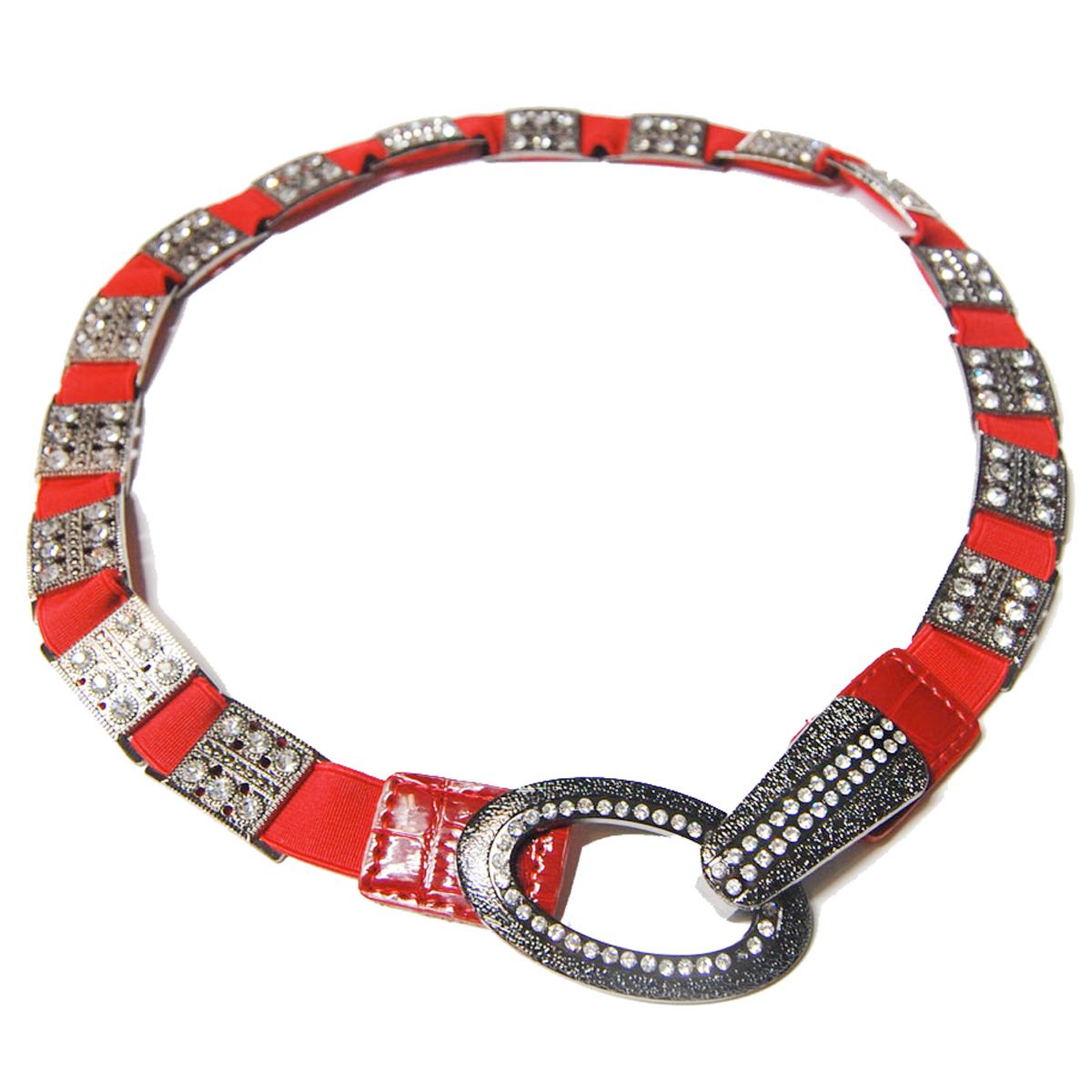 Crystal Stretch Belt - Red