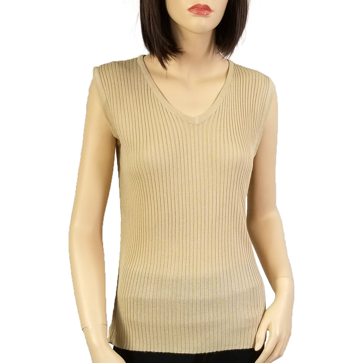 Ribbed Sweater Knit Sleeveless Top
