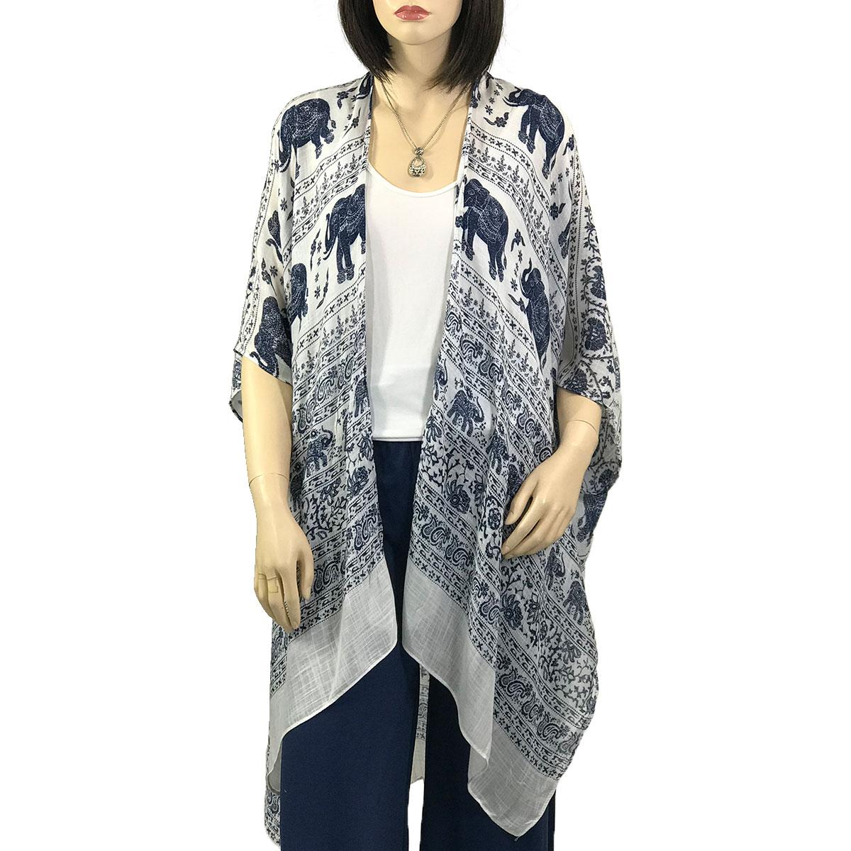 Kimono - Elephant Print 290 - Blue