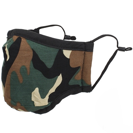 Protective Masks By Max - Camo Green/Brown Face Mask(adjustable nose wire and ear loops)