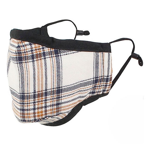 Protective Masks By Max - Classic Tartan Plaid Ivory/Brown/Black