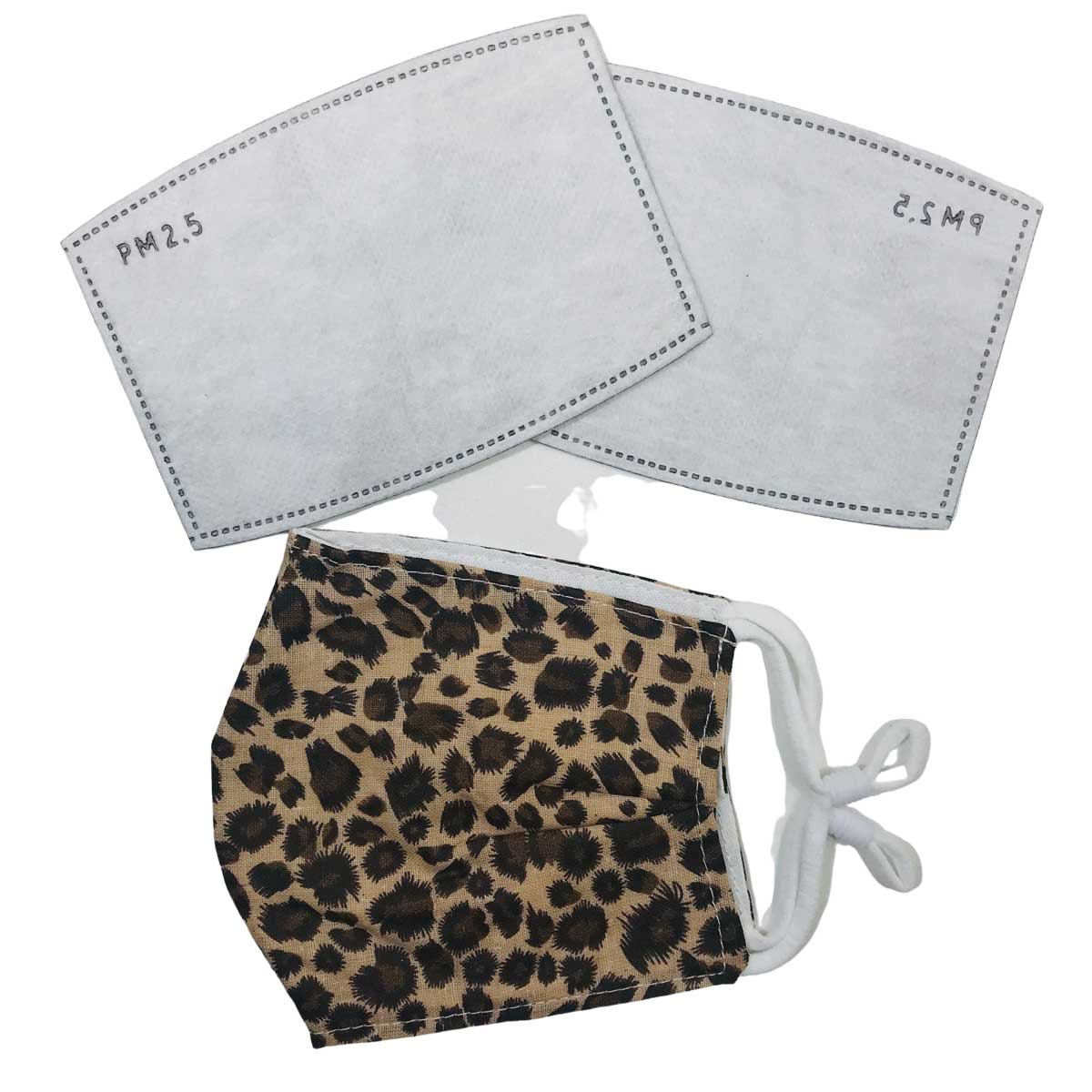 Protective Masks by Cate with Filters - D28 Leopard Camel