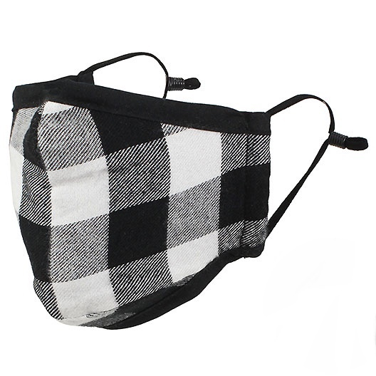 Protective Masks by Max - Buffalo Plaid - Buffalo Check Black/White