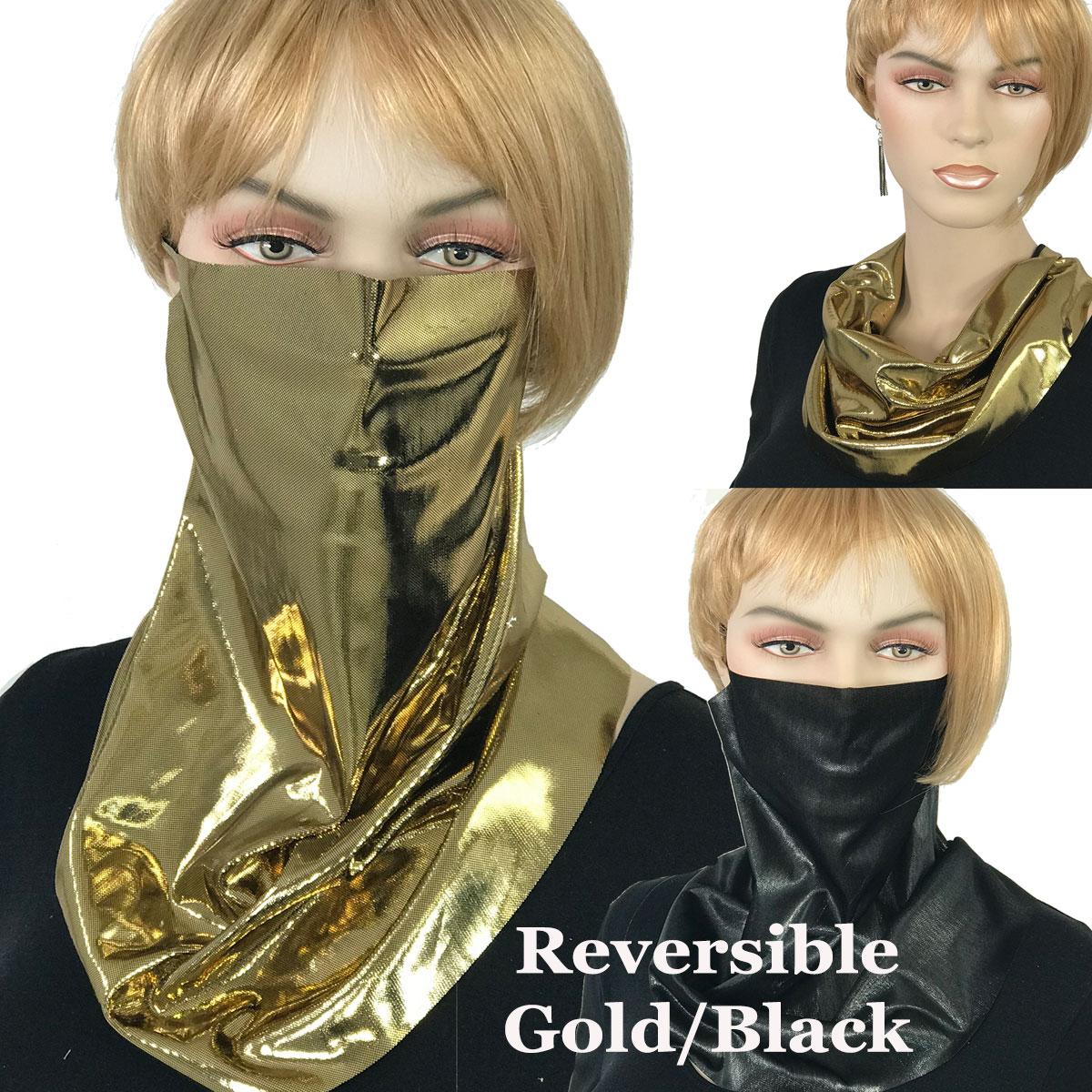 Protective Masks - Bling Styles - #02 Reversible Gold/Black Shimmer (Made in USA - Josefa) - Bling Masks