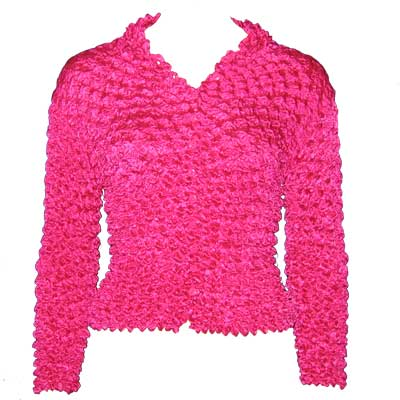 Wholesale Gourmet Popcorn - Cardigans with Collar Magenta - One Size (XS-L)