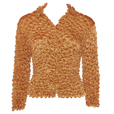 Wholesale Gourmet Popcorn - Cardigans with Collar Copper - One Size (S-XL)